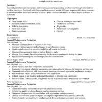 Sample Maintenance Technician Resume by Nice General Maintenance Technician Resume Example In Paragraph