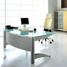 Home Office Glass Desk Contemporary Glass Desk Desks Home Office Computer With Top