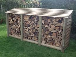 wood store large log store pressure treated co uk garden