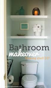 Diy Bathroom Makeovers - diy bathroom makeover floating shelves