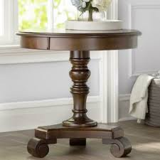 pedestal base end u0026 side tables you u0027ll love wayfair