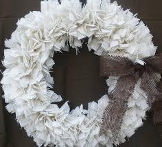 white wreaths happy holidays
