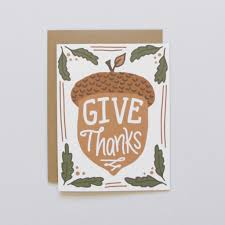 acorn vignette thanksgiving card arrow