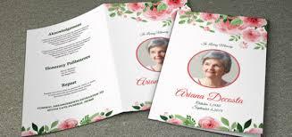 Funeral Program Samples Funeral Brochure Template Memorial Cards Templates Free Free
