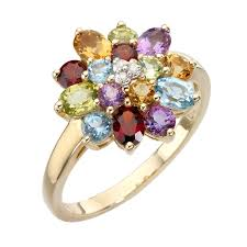 coloured stones rings images 9ct gold diamond and multi coloured stones ring ernest jones