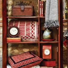 giftware clocks leather red black shelves home lifestyle