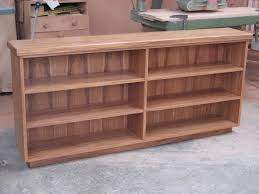 Idea Bookshelves Furniture Engaging Custom Handmade Three Levels Low Bookcase For