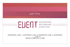 Event Business Cards Corporate Event Planner U0026 Caterer Print Template From Serif Com