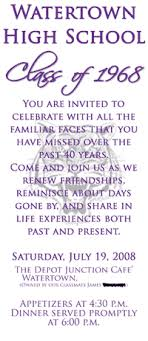 50th high school class reunion invitation high school reunion invitations the front class reunion 80 s