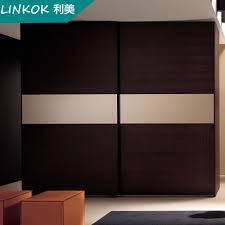factory direct veneer wardrobe door designs sliding door system