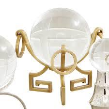 global views greek key crystal ball stand alchemy fine home