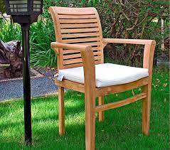 teck grade a chaise en teck naturel brut de grade jardin interieur