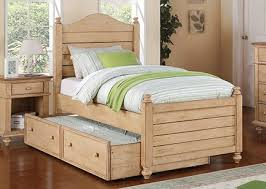 Twin Sized Bed Quails Run Wheat Twin Size Bed With Trundle By Winners Only