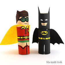 paper roll batman robin craft train
