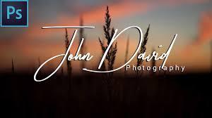 design photography logo photoshop how to make your own signature photography logo in photoshop