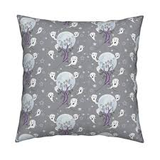 cute ghosts enjoying halloween fabric uzumakijo spoonflower