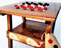 reclaimed wood game table game table wood board games backgammon checkers chinese