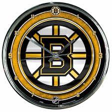 boston bruins home decor amazon com nhl boston bruins chrome clock 12
