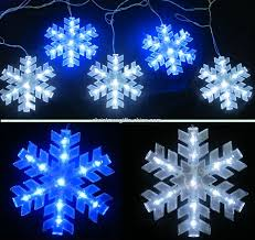 chic and creative blue snowflake lights outdoor white led