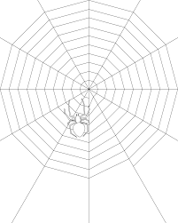 stunning spider web coloring pages for kids with spider coloring