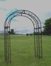 wrought iron xl round top arbor flower garden arch