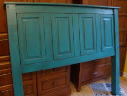 Cabinet Door Material Headboard Re Purposed From Cabinets And New Material