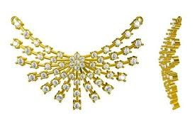 gold with diamond necklace images Latest gold diamond necklace at rs 50000 piece s sone ka har jpg