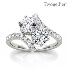 two engagement ring two ring heiser s jewelry