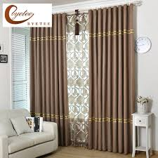 Blackout Kitchen Curtains Byetee Cotton Linen Blackout Kitchen Curtains Doors For Solid