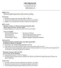 Sample Resumes For Internships by Mechanical Engineering Sample Resume Http Exampleresumecv Org