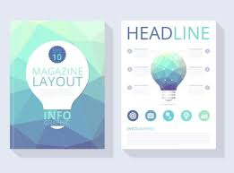 magazine layout graphic design abstract polygonal magazine layout vector download free vector art