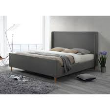Upholstered Platform Bed King Luxeo Bedford King Upholstered Platform Bed In Linen Grey