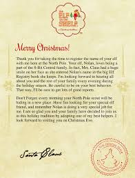 elf letter template elf on the shelf letter from santa template invitation template