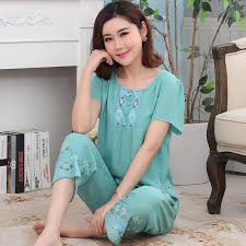 elderly nightgowns aliexpress buy elderly sleepwear women summer pajamas thin