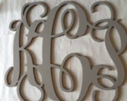 wooden letter f vine font monogram style large wall