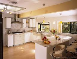 Modern White Kitchen Cabinets Round by Modern Kitchen With White Cabinets And Decor Contemporary Kitchens