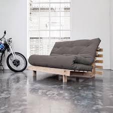 canapé 140 cm canapé canapé convertible roots 140 cm bois brut futon gris canapé