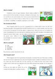 Global Warming Worksheet Intermediate Esl Worksheets Global Warming Worksheet