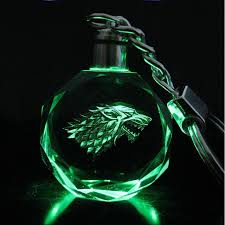 game of thrones light chirstmas sale crystal game of thrones keychain porte clef luxury