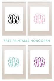create monogram initials free printable monogram initials the original monogram is on the