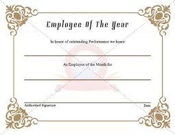 employee awards certificate templates jpg u2013 best u0026 professional