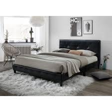 Upholstered Headboard Bed Frame Bed Frames Elevated Platform With Upholstered Headboard Wood