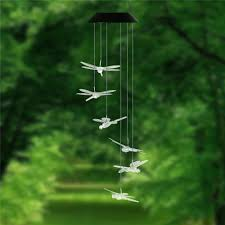 Dragonfly String Lights by Aliexpress Com Buy Dragonfly Led Solar Panel Wind Chime Night