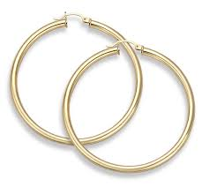 14k gold hoop earrings 14k gold hoop earrings 2 diameter 4mm thickness