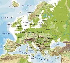 europe peninsulas map maps europe europe maps map pictures
