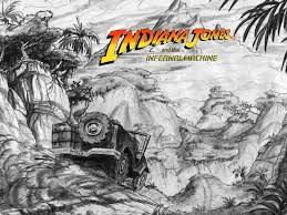 jeep artwork indiana jones and the infernal machine concept art the