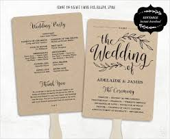 how to make wedding program fans stylist and luxury how to make wedding program fans wedding 2018