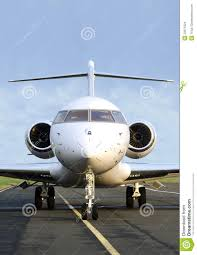 private jet plane front view bombardier stock images image