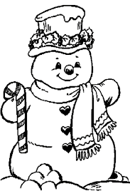 christmas snowman colouring pages snowman coloring pages