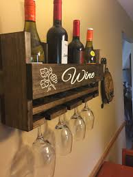 engraved personalized wine rack carved custom rustic 4 bottle